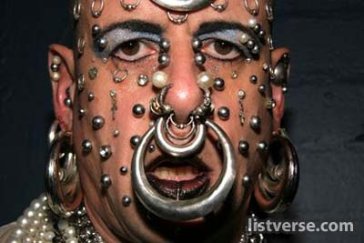 Full Piercing On Face Men